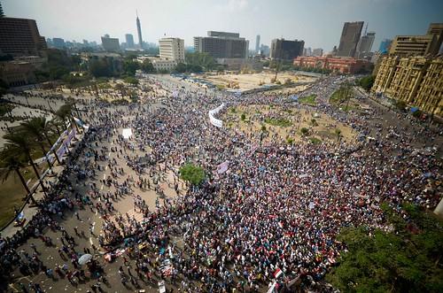 Panoramic pic for tahrir Sq. 9-9-2011 صورة بانورامية لميدان التحرير الجمعة  by أحمد عبد الفتاح Ahmed Abd El-fatah
