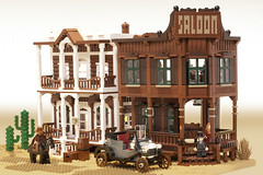 right side of the street (marshal banana) Tags: street city town lego western historical wildwest diorama