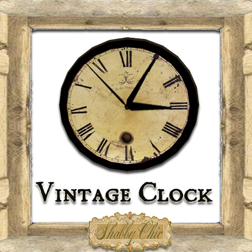 Shabby Chic Vintage Clock by Shabby Chics