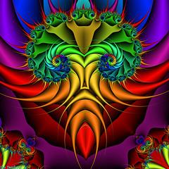 African mask (Tim Deschanel) Tags: abstract color colour art digital tim mask african contest 27 couleur deschanel grietje technicolour haitsma