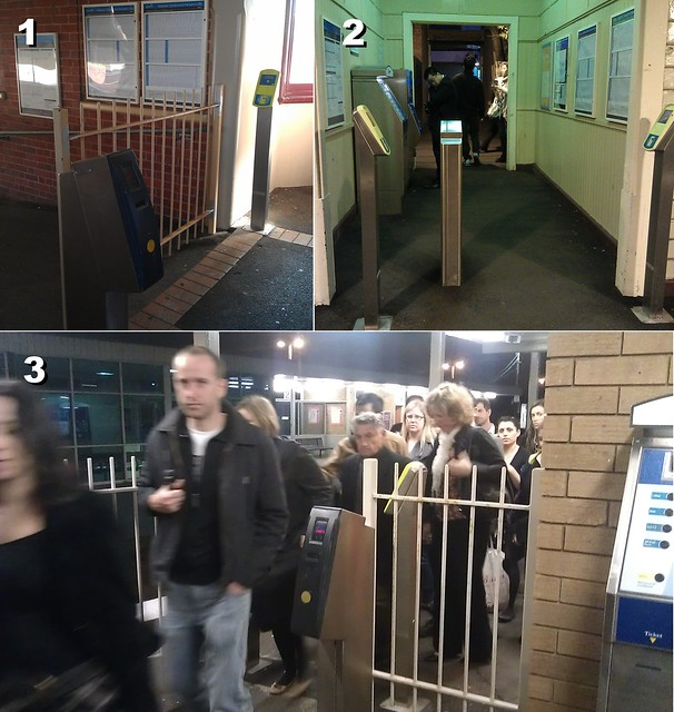 Poor design of station exits