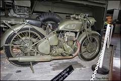 BSA M20 (Flicktone) Tags: armybike bsam20 eos600d rememuseumarborfield
