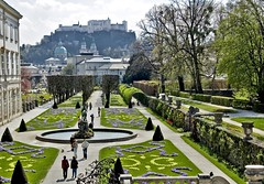 Welcome To Salzburg! (Serge Freeman) Tags: park city salzburg castle fountain garden austria design spring cityscape hill