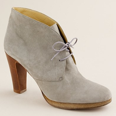 J.Crew Suede Flannery platform ankle boots