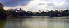 Hon Kim Lake, H Ni, Vietnam (jepoirrier) Tags: autostitch panorama lake tower water stitch turtle vietnam hanoi hugin hni thpra hhonkim buin hhon