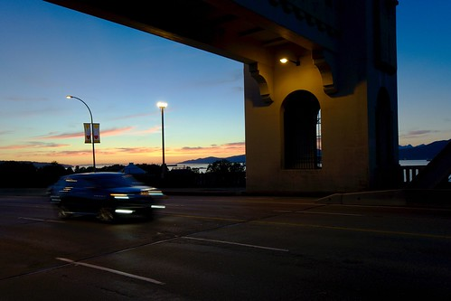 Burrard Bridge at dusk