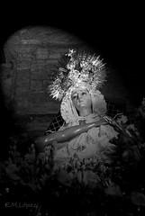 Angustias (E.M.López) Tags: blancoynegro blackwhite madera escultura septiembre verano fe jaen virgen imagen cofrade dolorosa talla procesión trono fervor 2011 verado virgendelasangustias devoción cofradía angustias procesional alcalálareal pasodemisterio