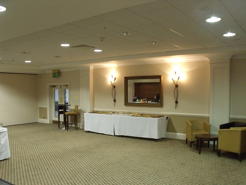 St Johns Hotel, Warwick Road, Solihull - tables with snacks and drinks