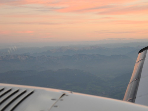 Sunset over the Austrian Alps