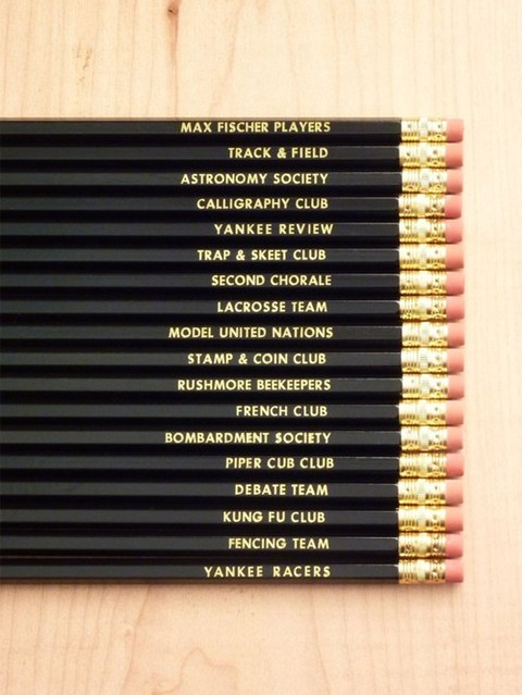Max Fischer's Rushmore extracurricular pencil set