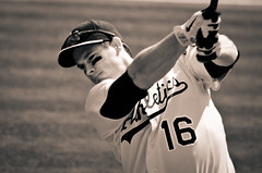 Oakland A's - Josh Willingham (Ame Otoko) Tags: photography oakland athletics baseball bat swing player josh todd batting willingham mlb fong outfield as toddfongphotography