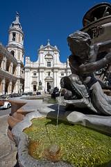 Loreto - Scorcio 01 (Promix The One) Tags: blu basilica campanile cielo piazza acqua fontana statua marche scorcio canoneos1dsmarkii loretoan doublyniceshot doubleniceshot sigmadg1530f3545exasph