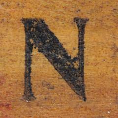 rubber stamp handle letter N (Leo Reynolds) Tags: canon eos iso100 n letter nnn 60mm f80 oneletter letterset 0sec 40d hpexif grouponeletter xsquarex xleol30x