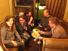 hanging with the Red House Records peeps, and eating cheese!