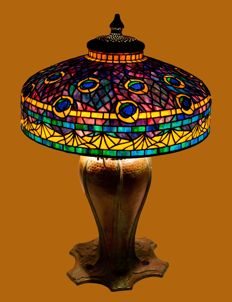 Peacock Lamp lit