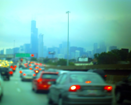 Lomo Chicago on a rainy day