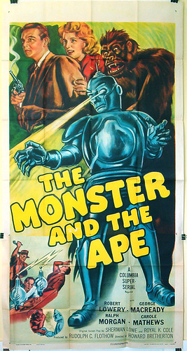THE MONSTER AND THE APE 3 sheet