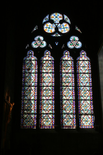stained glass and the cross