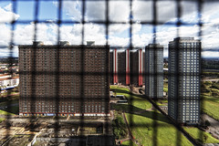 red road flats, caged (abbozzo) Tags: glasgow modernistarchitecture brutalism brutalist eastend doorsopenday petershill glasgowtower springburn councilhousing brutalistarchitecture redroadflats 7663 modernistdesign glasgowarchitecture eastendglasgow abbozzo glasgowhousing 60stowerblock glasgowhousingassociation glasgowdoorsopenday glasgowbuilding springburnglasgow counciltowerblock redroadflatsglasgow glasgowtowerblock doorsopenday2011 60sarchitecture redrowflatglasgow 1960stower