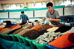 Spice fest (rackyross) Tags: city cidade market ciudad mercado uzbekistan centralasia trade mercato march bazar ville citt tashkent chorsu comercio commercio ozbekiston toshkent asiacentral bozor asiacentrale  ozbekiston  x