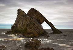 Bow Fiddle Rock (JACK BYERS.) Tags: rock coast scotland bow banff fiddle quartzite findochty cullen buckie largerock banffshire portknockie bowfiddlerock 50feet quartziterock jackbyers