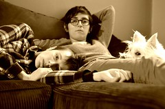 201/365 - Zombie Land (DayTripper15) Tags: sepia 50mm couple zombie saturday miles 365 familyportrait sivan zonedout blankstares