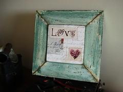 Quadro Love (Acessório Necessário) Tags: love amor quadro decoração quadrinho verdeágua madeiradedemolição medeiradedemoliçãofake