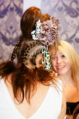 Bandstand by day Kanzashi modeled by Eva (cuttlefishlove) Tags: white flower green model brighton hove falls event oyster bandstand fashionshow taupe hairaccessories hairclip kanzashi hbar hairaccessory fascinator hairornament brightonbandstand theguerrillafashionshow thguerrillafashionshow hugekanzashi