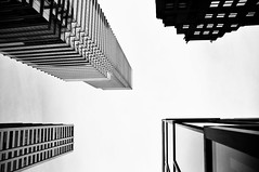 Higher (Reinaldo Diaz) Tags: new york bw white ny black building nikon manhattan 18200mm d300s