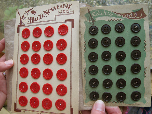 vintage french buttons