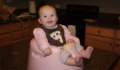 Happy Lucy in the Bumbo