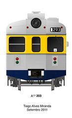 AC2 203 (Tiago Alves Miranda) Tags: portugal train drawing cp desenho gec comboio 3100 3203 linhadecascais caminhosdeferroportugueses sorefame tiagoalvesmiranda ac2203
