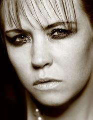 Helen Drew (Mark O'Grady // Photography) Tags: white black sepia photography mark petra gritty headshot helen vic ratio mua hairstylist ogrady aspect petracostellomua vicstevenshairstylist helendrewmodel