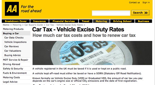 AA car tax
