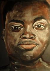 Jacquie (Gila Mosaics n'stuff) Tags: portrait art female paint artist acrylic onblack portraitparty jkpp jkpp2011