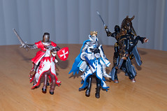 Three Knights (mklinchin) Tags: usa toy pennsylvania knights knight papo huntingdonvalley