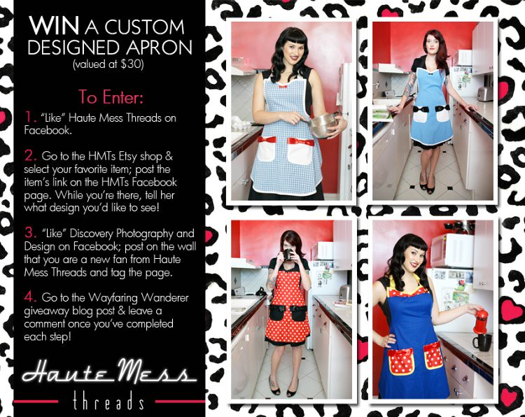 WIN a Custom Designed Apron by Haute Mess Threads (Giveaway)