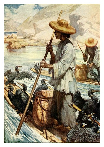001-Pesca con cormoranes-China 1910- Norman H. Hardy
