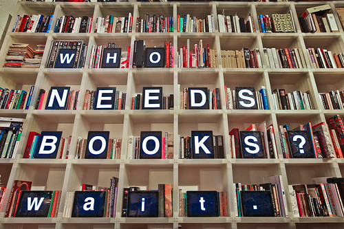 Who Needs Books? by boltron-, on Flickr