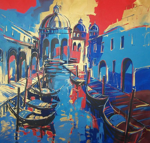 Venice in Blue     - Painting - Original