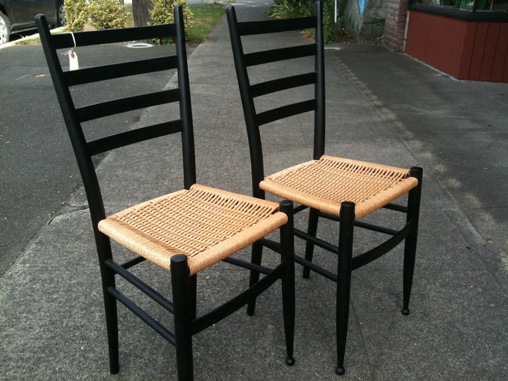 pair of Gio Ponti style chairs