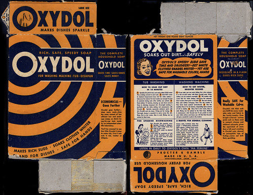 Proctor & Gamble - Oxydol - makes dishes sparkle - detergent box - 1940's by JasonLiebig