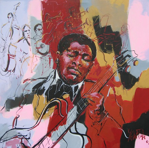 Jazz in Barcelona - painting