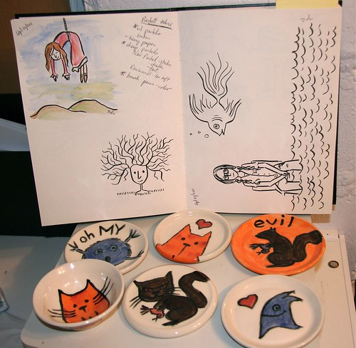 Sketchbook and Pottery