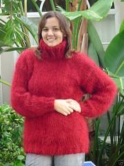 Turtleneck mohair jumper (Mytwist) Tags: wool girl sweater mohair jumper turtleneck polo thick