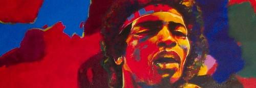 Jimi Hendrix - Painting - Modern Expressionism