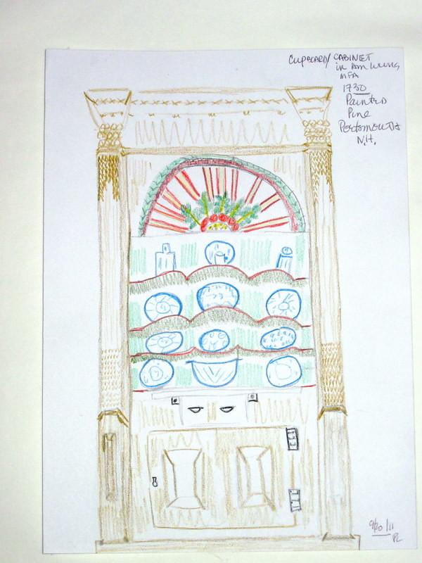 MY SKETCH OF Jaffrey Cabinet.