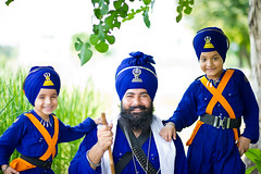 The Valiant Ones (gurbir singh brar) Tags: family blue sikhs punjab 2010 khalsa nihangs tarnadal pathlawa ajitsingh nihangsinghs fatehsingh babaswaranjitsingh
