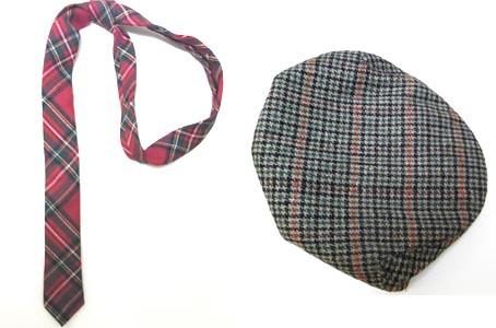 corbata y boina
