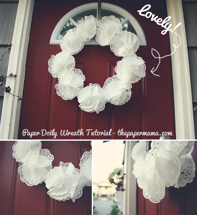 Paper Doily Wreath Tutorial The Paper Mama